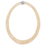 A THREE-STRAND NATURAL PEARL NECKLACE -    - Auction of Fine Jewels & Watches