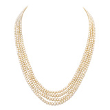 A FOUR-STRAND NATURAL PEARL NECKLACE -    - Auction of Fine Jewels & Watches