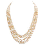 A FIVE-STRAND NATURAL PEARL NECKLACE -    - Auction of Fine Jewels & Watches