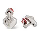 A PAIR OF DIAMOND 'DOPPIO CUORE' EAR CLIPS, BY BVLGARI -    - Auction of Fine Jewels & Watches