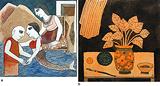 a) The Encounter; b) Still Life with Artist's Brush - Badri  Narayan - 24-Hour Auction: Small Format Art