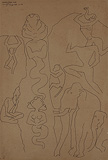Mahabalipuram Four - M F Husain - Summer Art Auction 2012
