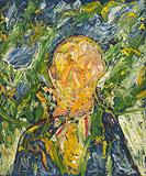 Portrait of H.K. (Harold Kovner) - F N Souza - Summer Art Auction 2012