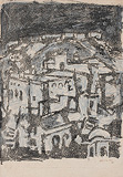 Amber Fort - M F Husain - Winter Online Auction: Modern Indian Art