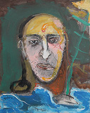 Man Thinking of his Father at Ganges - Manu  Parekh - StoryLTD Absolute Auction