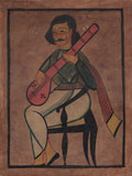 A Kalighat Painting -    - Absolute Auction of Indian Art & Collectibles