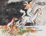 Rains on Lovers - Bhupen  Khakhar - Autumn Art Auction