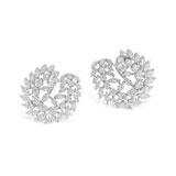 A PAIR OF DIAMOND EAR CLIPS -    - Autumn Auction of Fine Jewels and Silver