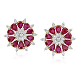 A PAIR OF RUBY AND DIAMOND EAR CLIPS -    - Autumn Auction of Fine Jewels and Silver