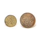 A SET OF CRESTED 'ACHKAN' BUTTONS, CHIMANLAL MANCHAND & CO., BOMBAY -    - Autumn Auction of Fine Jewels and Silver