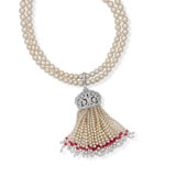 AN ELEGANT PEARL TASSEL NECKLACE -    - Autumn Auction of Fine Jewels and Silver