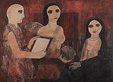 The Models of Imagination and Reality - Badri  Narayan - Summer Art Auction
