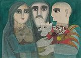 Kukkuta Jataka - Badri  Narayan - Summer Art Auction