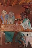An Incidence at a Dhhaba - Krishen  Khanna - Summer Art Auction