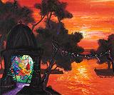 Evening Light - Manu  Parekh - Summer Art Auction