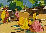 The Waterpump, Jaipur - Jehangir  Sabavala - Summer Art Auction