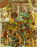 Pastorale 3 - K G Subramanyan - Summer Art Auction