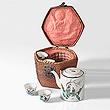 A VINTAGE JAPANESE TEA BASKET - Travel and Leisure Auction