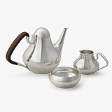 A MAGNIFICENT SILVER COFFEE SET NO. 1017 BY HENNING KOPPEL, GEORG JENSEN -    - Travel and Leisure Auction
