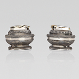 A PAIR OF 'QUEEN ANNE' TABLE LIGHTERS, RONSON -    - Travel and Leisure Auction