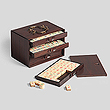 A PERIOD GAME BOX - Travel and Leisure Auction