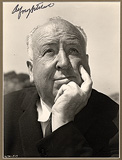 A SIGNED PHOTOGRAPH OF ALFRED HITCHCOCK -    - Travel and Leisure Auction