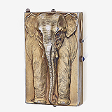A RARE LADIES 'ELEPHANT' COMPACT CASE -    - Travel and Leisure Auction