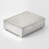 A SILVER CIGAR BOX, BEDDOES & CO -    - Travel and Leisure Auction