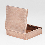 A ROSE GOLD CIGARETTE BOX, GAZDAR -    - Travel and Leisure Auction
