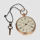 CHARLES RANKIN, DUBLIN: A RARE OPEN FACE GOLD POCKET WATCH, NO. 63973 -    - Travel and Leisure Auction