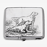 A SILVER RUSSIAN CIGARETTE CASE -    - Travel and Leisure Auction
