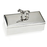 A STERLING SILVER 'HORSE' BOX, JOHN CHATTELLIER -    - Travel and Leisure Auction
