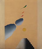 Bird, Tree+ Mountain series - Jagdish  Swaminathan - Winter Online Auction
