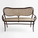 A PERIOD BENTWOOD LOVESEAT -    - 24-Hour Online Auction: Elegant Design