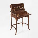 A RARE TEAKWOOD CAMPAIGN DESK -    - 24-Hour Online Auction: Elegant Design
