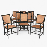 A SET OF EIGHT RARE EBONY DINING CHAIRS -    - 24-Hour Online Auction: Elegant Design