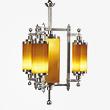 A MAGNIFICENT AND RARE ART DECO CHANDELIER - 24-Hour Online Auction: Elegant Design