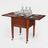 A RARE PORTABLE POP UP DRINKS CABINET -    - 24-Hour Online Auction: Elegant Design