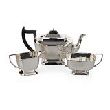 A SILVER TEA SET, A. L. DAVENPORT LTD. -    - 24-Hour Online Auction: Elegant Design