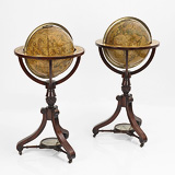 A HIGHLY IMPORTANT PAIR OF PERIOD TERRESTRIAL AND CELESTIAL GLOBES, J & W NEWTON -    - 24-Hour Online Auction: Elegant Design