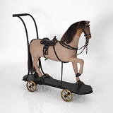A VINTAGE CHILD'S PUSH ALONG HORSE -    - 24-Hour Online Auction: Elegant Design