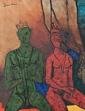 Untitled (Paris Suite) - M F Husain - Modern Evening Sale | Mumbai, Live