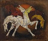 Untitled (Seven Horses) - M F Husain - Modern Evening Sale | Mumbai, Live
