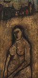 Nude in a city background - F N Souza - Modern Evening Sale | Mumbai, Live