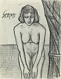 Untitled (Drawing based on the oil 'Spain') - F N Souza - Modern Evening Sale | Mumbai, Live