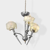 A THREE-ARMED MID-CENTURY CEILING LIGHT -    - LIVE Auction Celebrating 20th Century Design