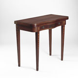 A PERIOD CARD TABLE -    - LIVE Auction Celebrating 20th Century Design