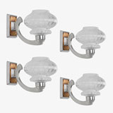 A SET OF FOUR STUNNING ART DECO WALL LIGHTS -    - LIVE Auction Celebrating 20th Century Design