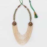 A SEED PEARL AND GEMSET NECKLACE -    - Online Auction of Fine Jewels and Silver