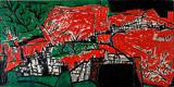Untitled (Red and Green Landscape/ Hampstead Landscape) - F N Souza - Modern Evening Sale | New Delhi, Live